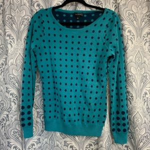 The limited polka dot wool blue sweater top shirt